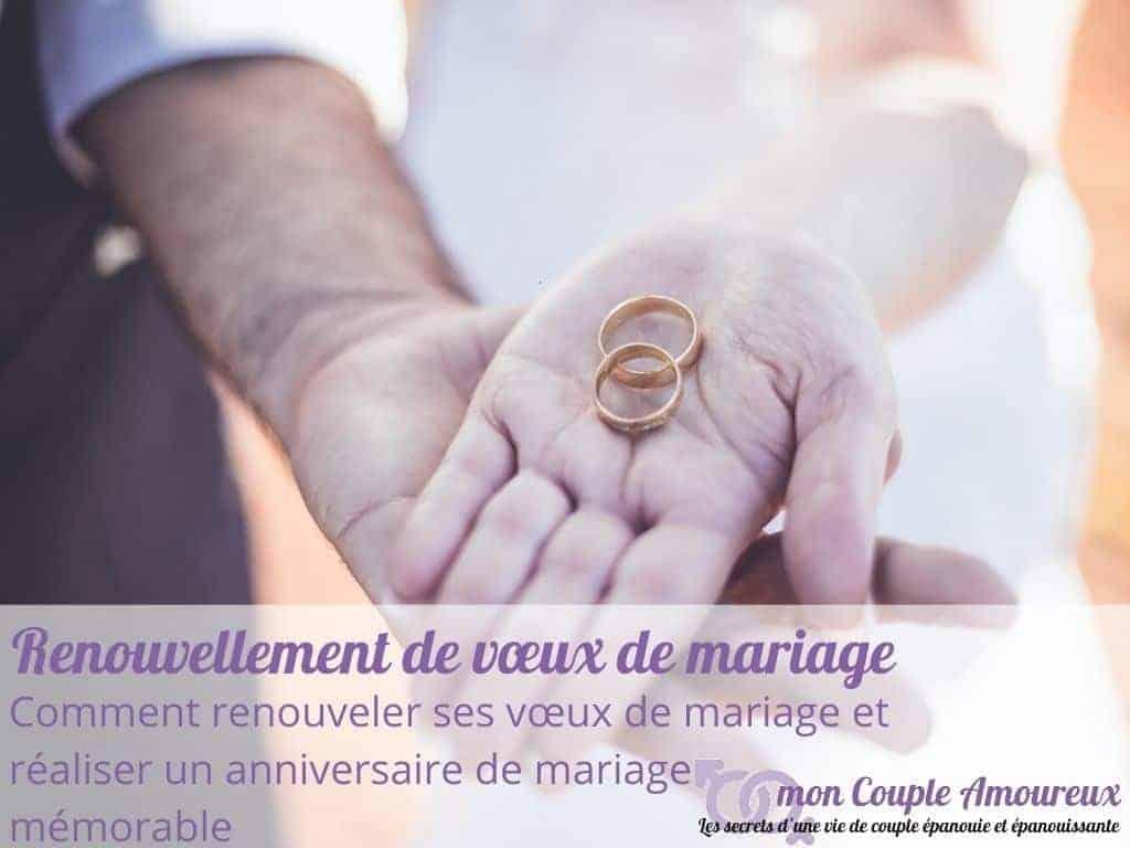 Comment renouveler ses vœux de mariage